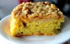 Minkštas ir labai skanus rabarbarų pyragas