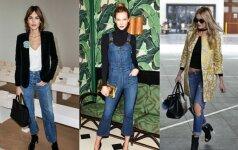 4 madingiausi sezono džinsai ir jų deriniai