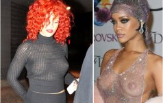 "10 kartų, kai Rihanna ""pamiršo"" liemenėlę"