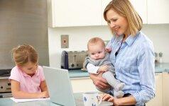 Psichologė: bendraujant su vaikais svarbiau kokybė, o ne kiekybė