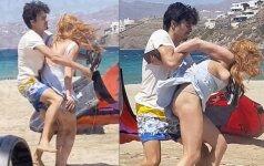 Praeivis nufilmavo muštynes tarp Lindsay Lohan ir jos milijonieriaus mylimojo