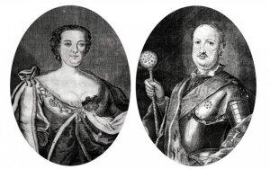 Uršulė Radvilienė ir Mykolas Kazimieras Radvila, nuotrauka iš L.Matonienės knygos Vilnius: meilės stotelės