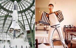 """Chanel"" pristatymo akimirka ir André Courrègeso modelis"