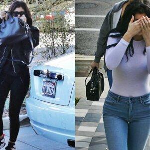 Gėdinga Kylie Jenner stiliaus klaida privertė užpakaliuką prisidengti rankine (FOTO)