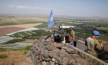 JT stebėtojas stebi Sirijos-Izraelio pasienį Golano aukštumose
