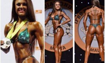 Daugkartinė bikinio čempionė D. Stankejeva: pirmąkart treneris net nesutiko manęs ruošti