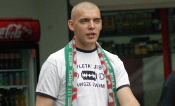 Lenkų futbolo sirgaliai Kaune