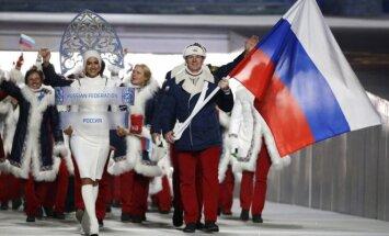 Rusijos olimpinė rinktinė Sočio žaidynių atidaryme
