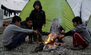 Pabėgėliai Graikijos pasienyje