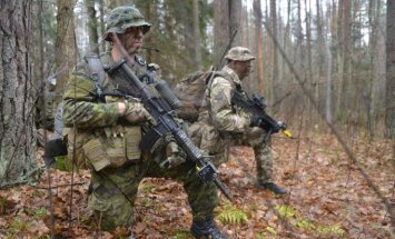 Soldiers in the Iron Sword 2015 NATO exercise