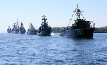 Russian Baltic Fleet on exercises at Kaliningrad