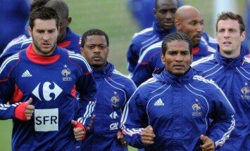 Prancūzijos futbolininkų treniruotė