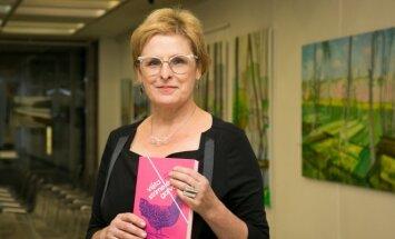 Rūta Vanagaitė with her new book