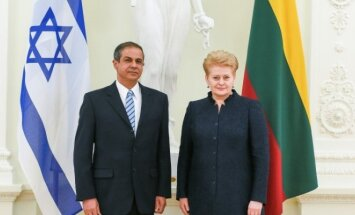 With President Grybauskaitė