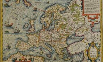 Europos žemėlapis, apie 1620 m. (Valdovų rūmų muziejaus nuotr.)