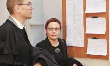 Daiva Ulbinaitė ir advokatas Giedrius Danėlius