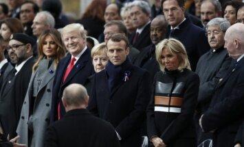 Pasaulio lyderiai Paryžiuje mini Pirmojo pasaulinio karo pabaigos šimtmetį