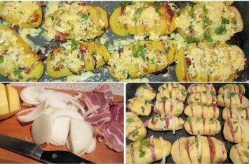 Įdarytos bulvės: gardu, sotu ir lengva pagaminti
