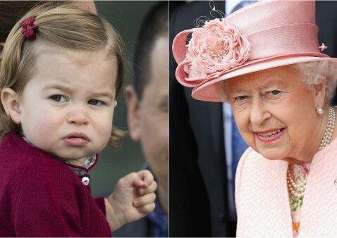 """Ar tikrai princesė Charlotte panaši į karalienę? <sup style=""""color: #ff0000;"""">FOTO + apklausa</sup>"""