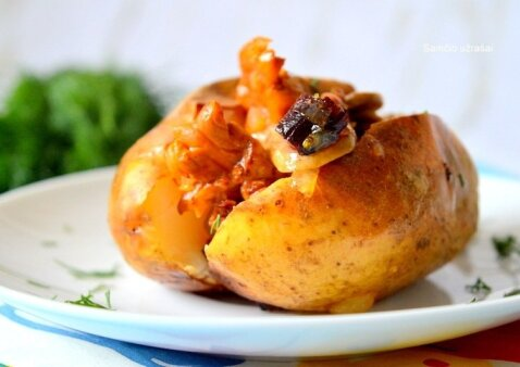 Įdarytos bulvės: greita ir labai skanu