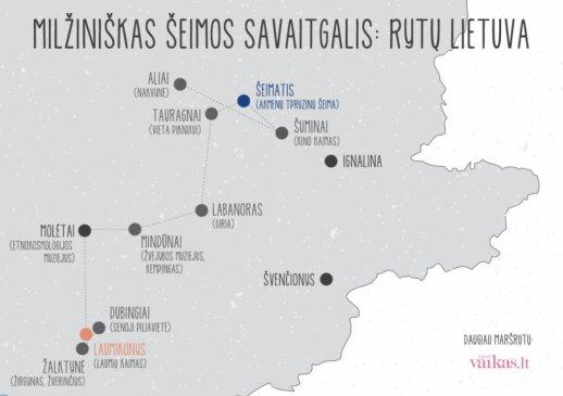 Milžiniškas šeimos savaitgalis: Rytų Lietuva