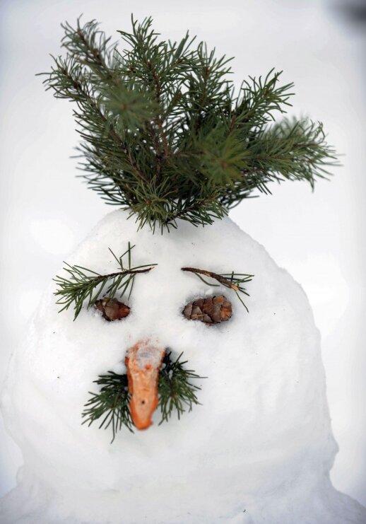 """Idėja savaitgaliui: lipdome kitokį sniego besmegenį <sup style=""""color: #ff0000;"""">FOTO</sup>"""