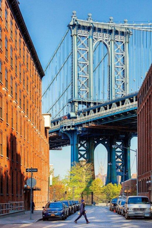 Bruklino tilto vaizdas iš Dumbo rajono