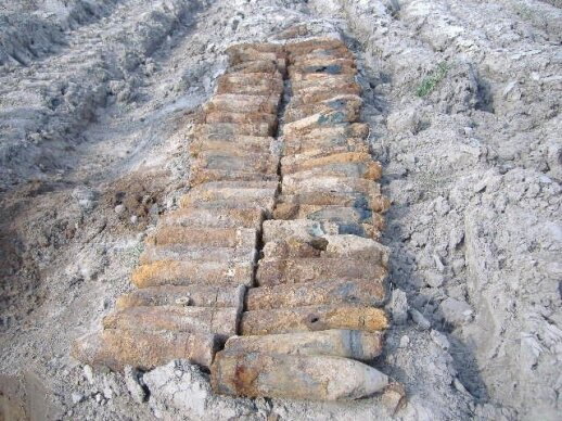 W Podbrodziu znaleziono arsenał z I wojny światowej