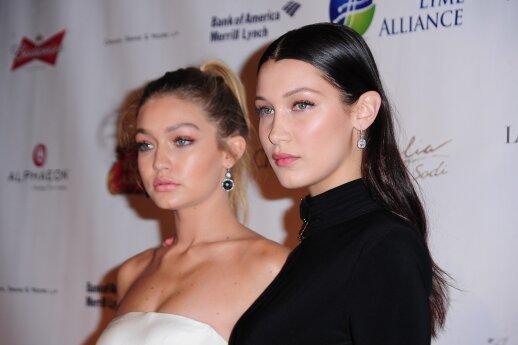 Gigi Hadid ir Bella Hadid