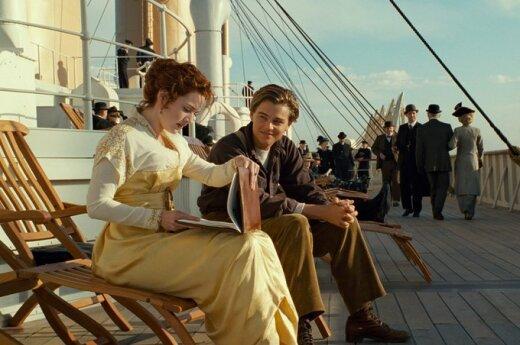Leonardo Di Caprio ir Kate Winslet filme'Titanikas