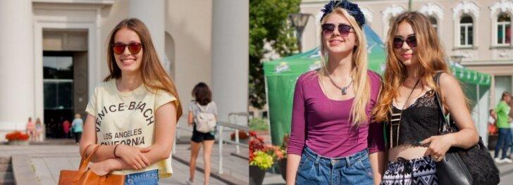 """Gatvės stilius: įpusėjus vasarai vilnietės nepamiršta <span style=""""color: #ff0000;"""">šortukų</span> (FOTO)"""