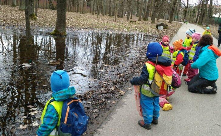 Darželis, kuriame vaikai žygio metu įveikia po 6 km