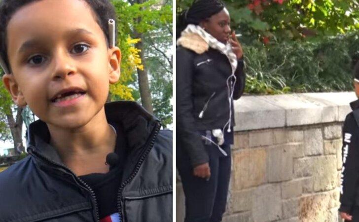 """Šokiruojantis eksperimentas: mažas vaikas su cigarete <sup style=""""color: #ff0000;"""">(VIDEO)</sup>"""