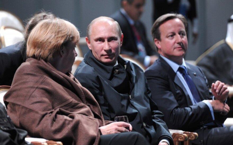 Angela Merkel, Vladimiras Putinas, Davidas Cameronas