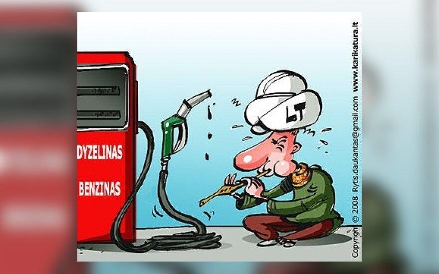 К.Главяцкас: из-за монополии литр горючего –  на 20 центов дороже