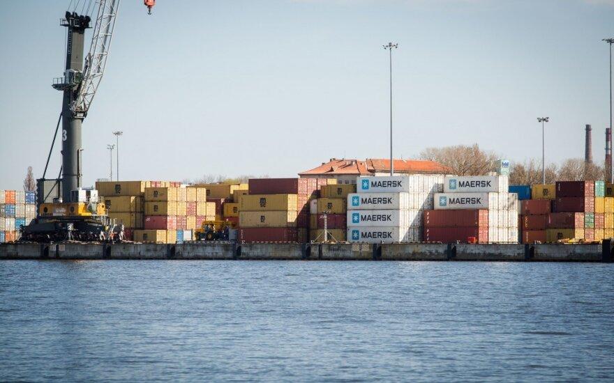 В Клайпедском порту из-за шторма ограничено судоходство