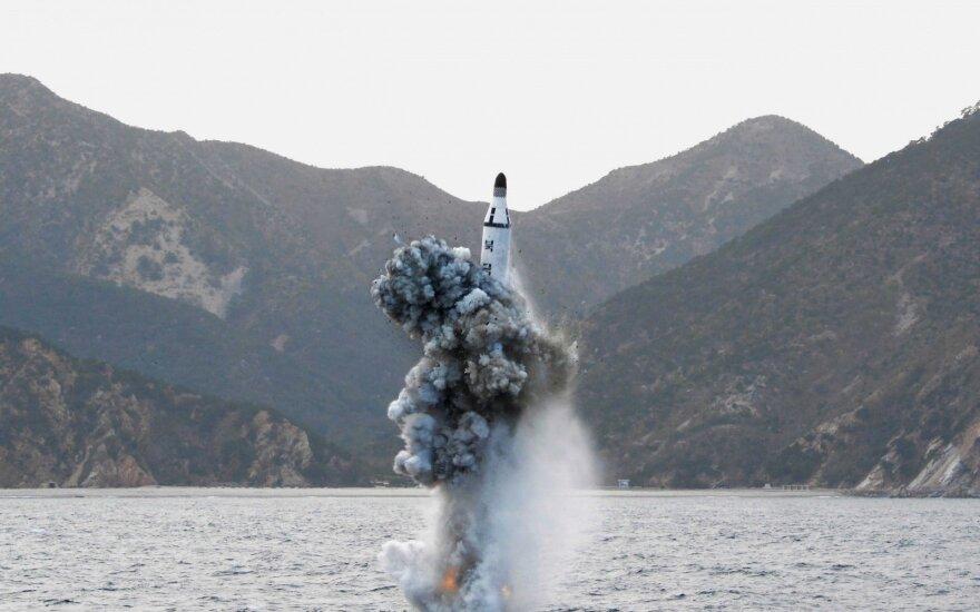 КНДР осуществила запуск баллистической ракеты в Японском море