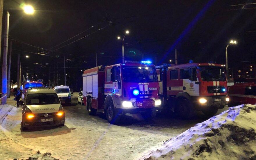 В столице Литвы в стене многоквартирного дома образовалась трещина