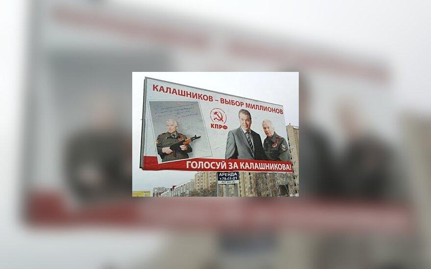 Rinkimuose naudojamasi ir Kalašnikovo pavarde, lenta.ru (V.Papilkino) nuotr.