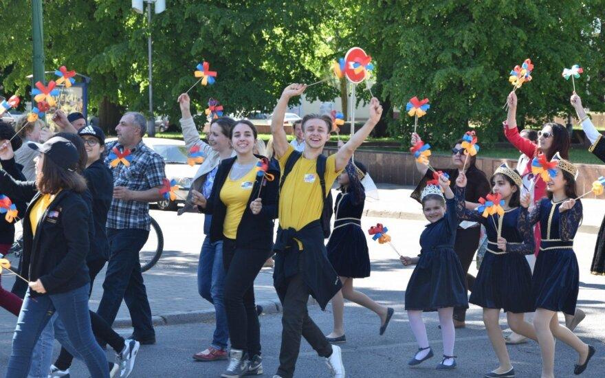 В Тракай собрались литовские, русские и польские школьники