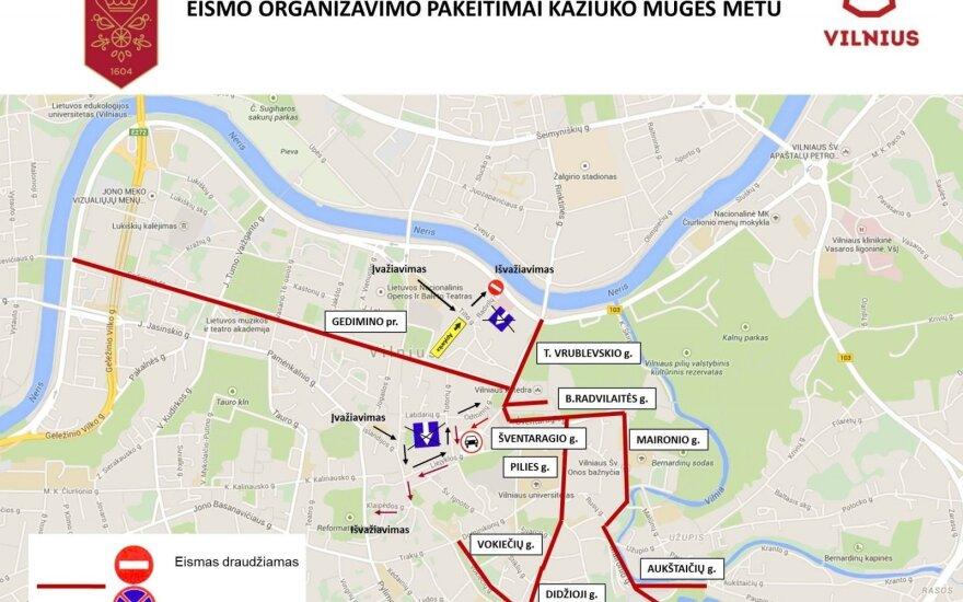 Во время ярмарки Казюказа – изменения в движении транспорта