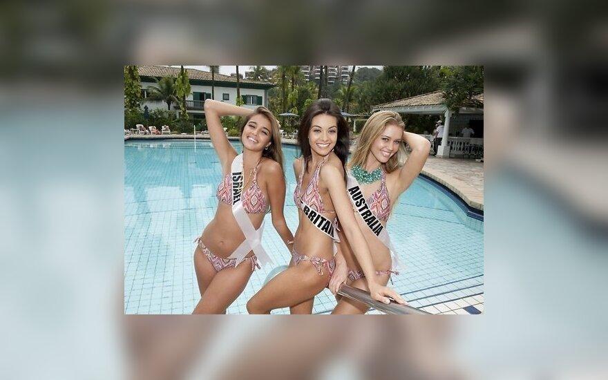 """Конкурсантки """"Мисс Вселенная"""" позировали на пляже"""