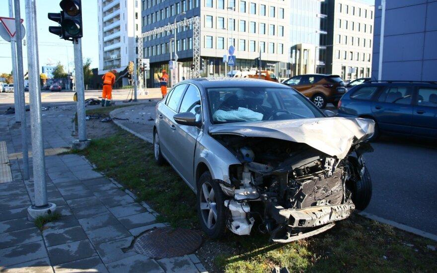 Во время ДТП в Вильнюсе пострадал один человек