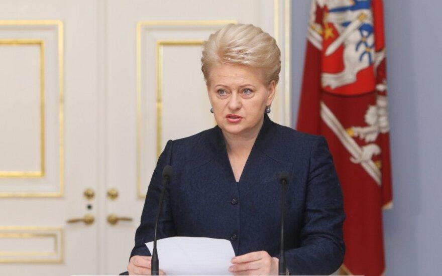 Dalia Grybauskaitė nawołuje do tworzenia państwa każdego dnia
