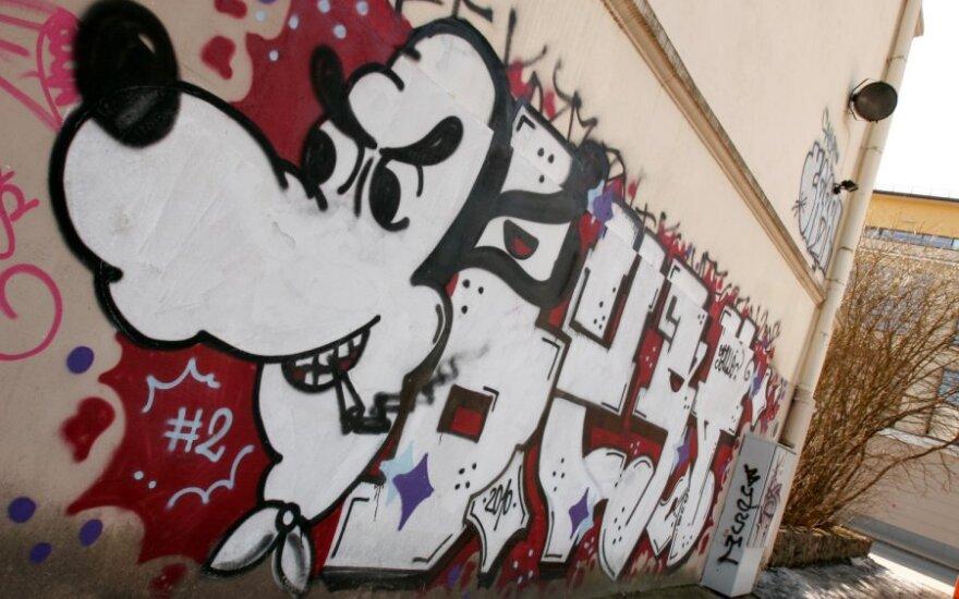 В Вильнюсе будут штрафовать хозяев домов с изрисованными фасадами