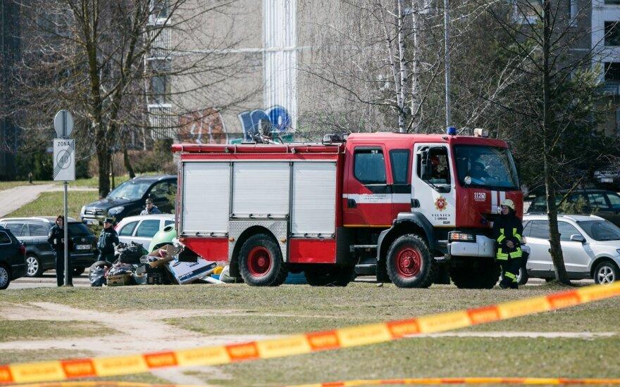 На оживленной улице Вильнюса найден артиллерийский снаряд