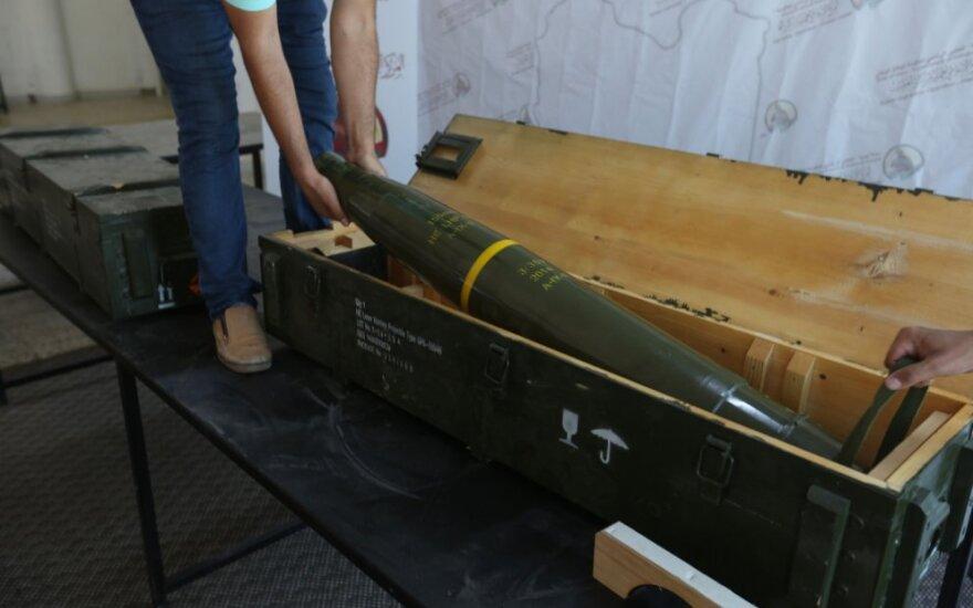 """JAV gamybos """"Javelin"""" raketos rastos Haftaro bazėje"""