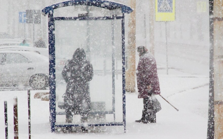 Ночью в Литве прогнозируют метель и гололед