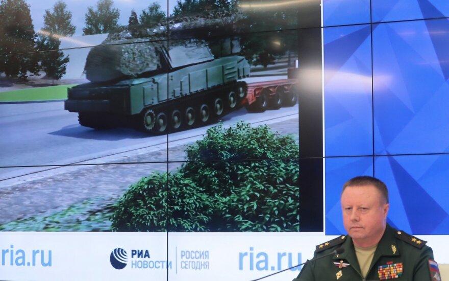 Rusijos gynybos ministerijos atstovai kaltę dėl MH-17 tragedijos verčia Ukrainai
