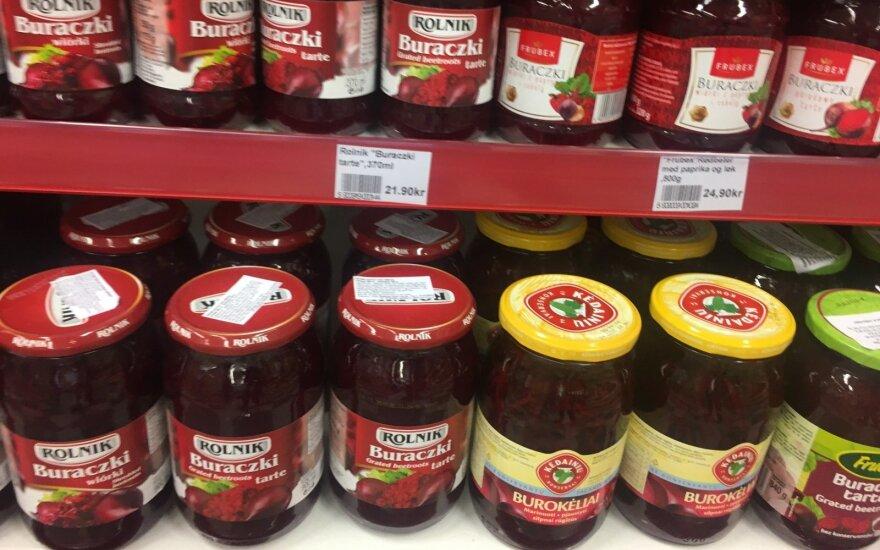 Lietuviški produktai Norvegijoje / N. Zverko nuotr.